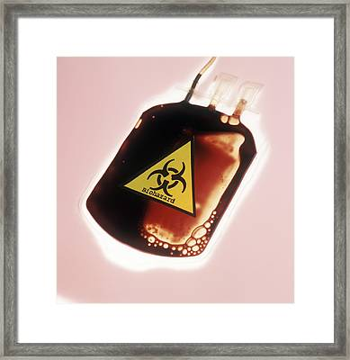 Contaminated Blood Framed Print by Cristina Pedrazzini