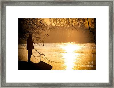 Contemplating Framed Print