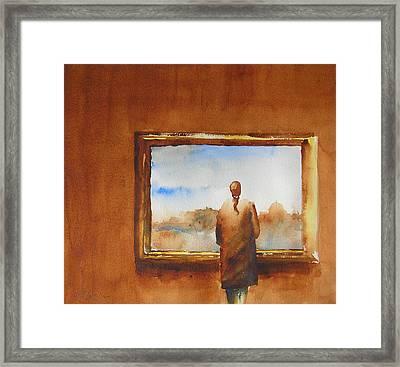 Contemplating The Turner Framed Print