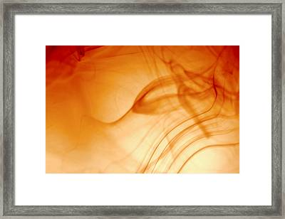 Contemporary Abstract Smoke Wisps Framed Print by Tracie Kaska