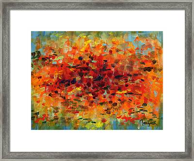 Contemporary Art Nineteen Framed Print
