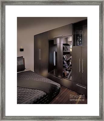 Contemporary Bedroom Framed Print by Robert Pisano