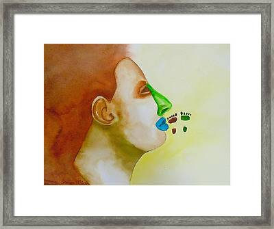 Framed Print featuring the painting Contemporary Genetics by Sharon Mick