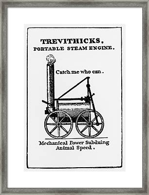 Contemporary Poster For First Passenger Locomotive Framed Print