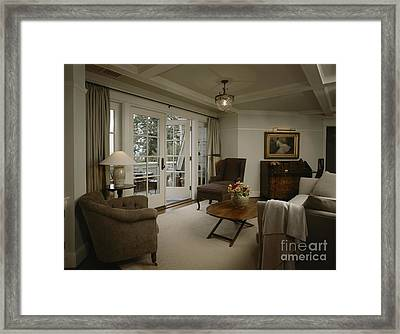Contemporary Sitting Room Framed Print