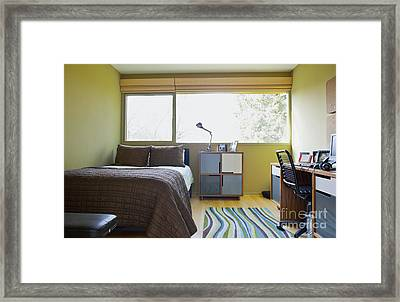 Contemporary Teenage Bedroom Framed Print by Inti St. Clair