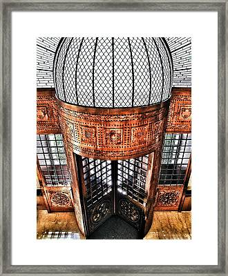 Continental Hotel Zara Main Entrance - Budapest Framed Print by Marianna Mills
