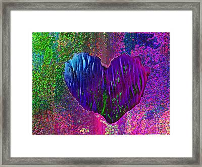 Framed Print featuring the photograph Contours Of The Heart by David Pantuso