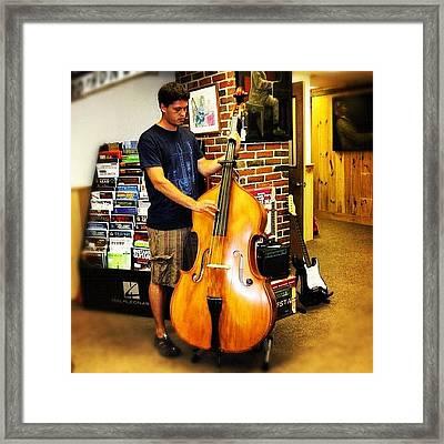 #contrabass #bass #doublebass Framed Print