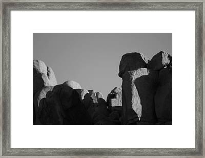 Contrast Stones  Framed Print by Carolina Liechtenstein