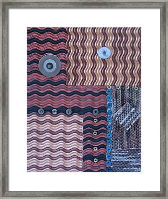 Contrasting Elements Framed Print by Ruth Edward Anderson