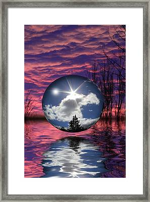 Contrasting Skies Framed Print
