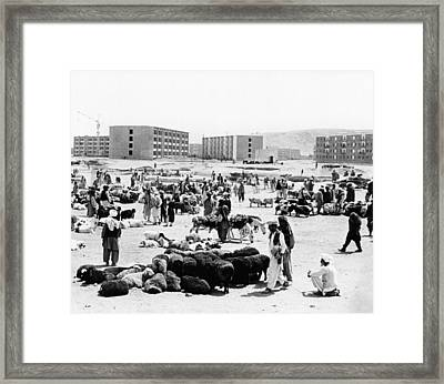 Contrasts In Kabul, Afghanistan. Modern Framed Print by Everett