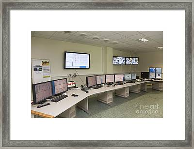Control Center Framed Print