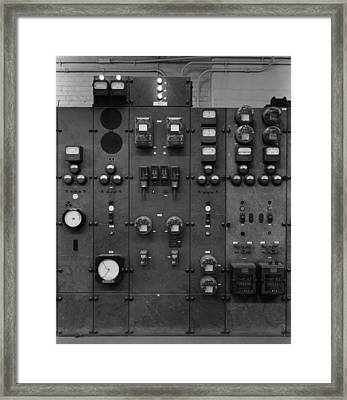 Control Panels Of The Detroit Edison Framed Print by Everett