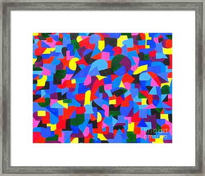 Controlled Chaos Framed Print by Denise Hopkins