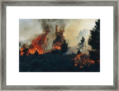 Controlled Fires Burn Eagerly In Small Framed Print by Melissa Farlow