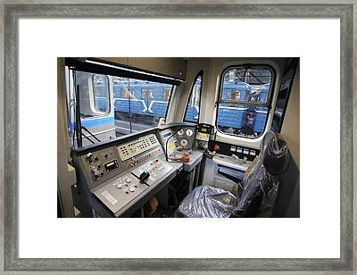Controls Of A Metro Train In Russia Framed Print by Ria Novosti