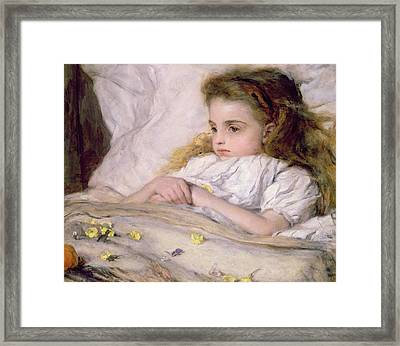 Convalescent Framed Print by Frank Holl