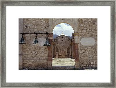 Convent Church Bells  Mexico Framed Print by John  Mitchell