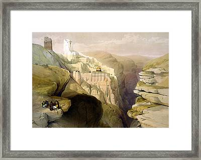 Convent Of St Saba Framed Print by Munir Alawi