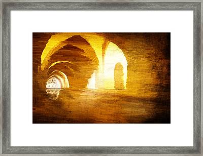 Framed Print featuring the digital art Convento by Andrea Barbieri