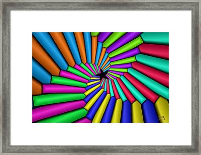 Convergence Framed Print by Manny Lorenzo