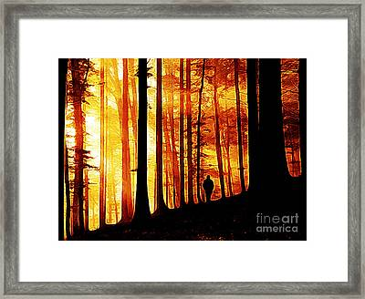Conversing With Ancients  Framed Print by The DigArtisT