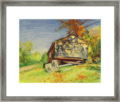 Converted Barn Orrs Mill Ny Framed Print