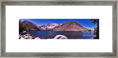 Framed Print featuring the photograph Convict Lake by Gary Brandes