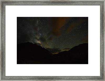 Convict Lake Milky Way Galaxy Framed Print by Scott McGuire