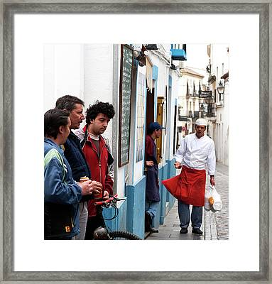 Framed Print featuring the photograph Cook And The Corner Boys by Lorraine Devon Wilke