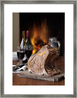 Cooked Rack Of Beef Framed Print by Jon Stokes