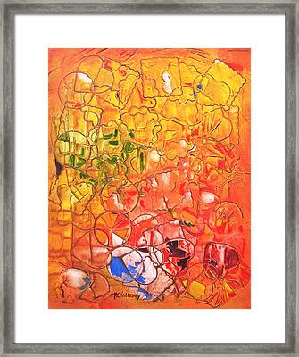 Cookie Cutter Framed Print by Mary Kay Holladay
