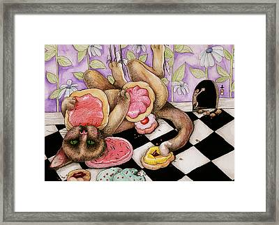 Cookie Puss Framed Print