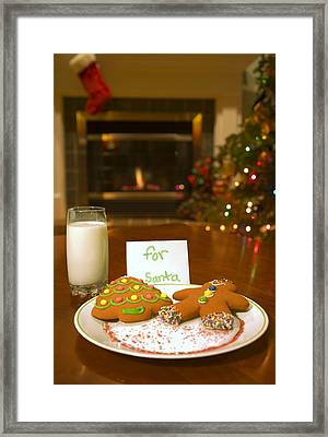 Cookies For Santa Claus Framed Print by Carson Ganci