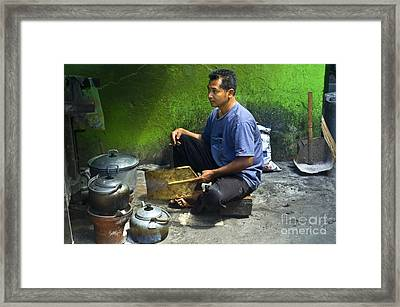 Cooking Framed Print by Charuhas Images