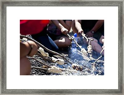 Framed Print featuring the photograph Cooking Damper by Carole Hinding