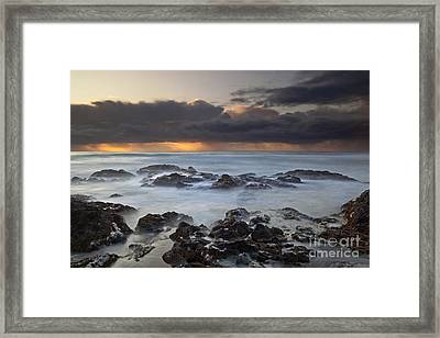Cooks Chasm Framed Print by Keith Kapple