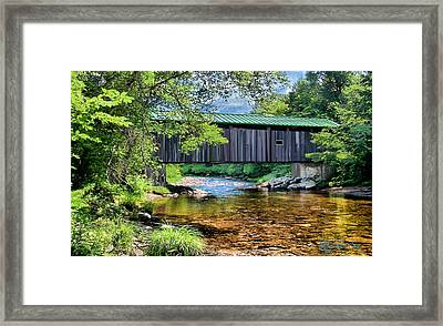 Cool And Green And Shady Framed Print by John Selmer Sr