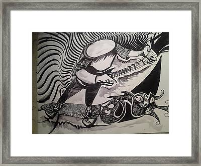 Cool Breeze Framed Print by Modesto Aceves