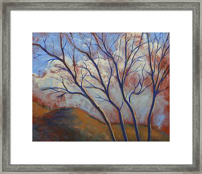 Cool Breeze On A Warm Day Framed Print by Peggy Wrobleski
