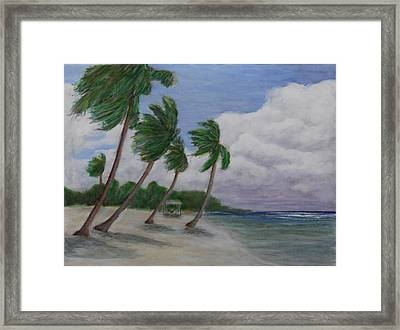 Cool Breeze On The Brac Framed Print by Monte Lee Thornton
