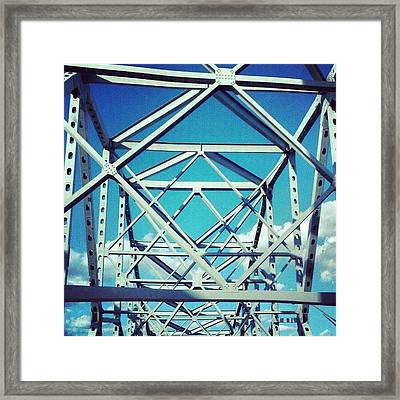 Cool #bridge #ohio Framed Print