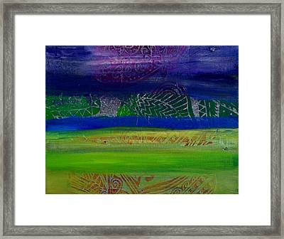 Cool Colors In A Horizontal Rush Framed Print by Samar Asamoah
