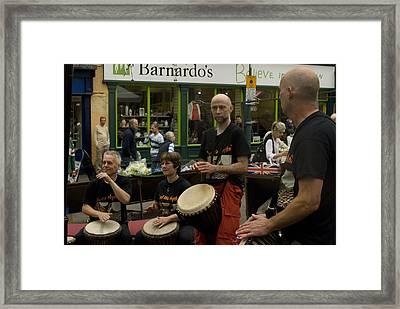 Cool Drummings 1 Framed Print by Peter Jenkins