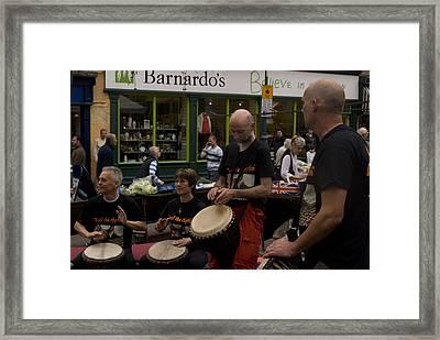 Cool Drummings 2 Framed Print by Peter Jenkins