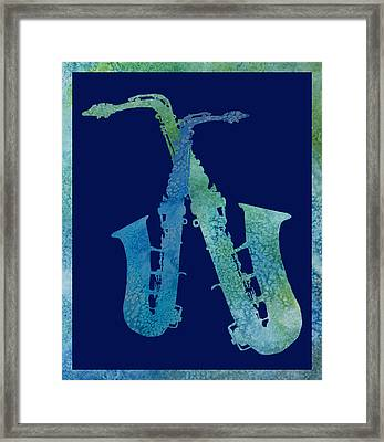 Cool Jazzy Duet Framed Print by Jenny Armitage