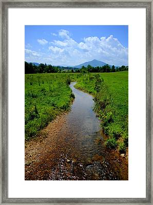 Cool Mountain Stream Framed Print by Frozen in Time Fine Art Photography