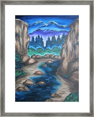 Cool Mountain Water Framed Print by Cheryl Pettigrew